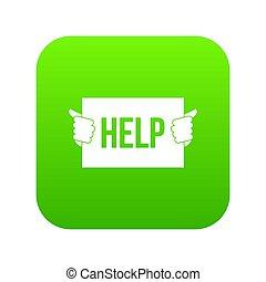 Help icon digital green