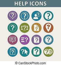 Help icons