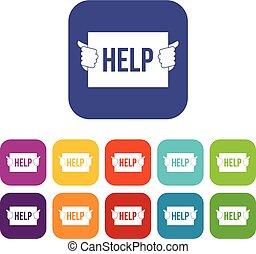 Help icons set