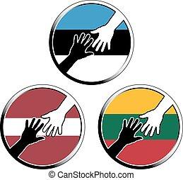 help in baltic states.eps - help in baltic states. vector...