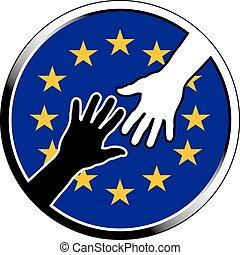 help in EU.eps - help in EU. vector illustration