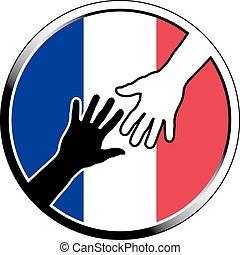 help in france.eps - help in france. vector illustration