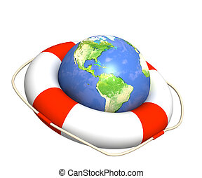 Help in global recession - Conceptual image - help in global...