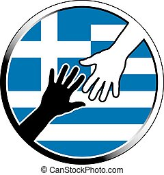 help in greece.eps - help in greece. vector illustration
