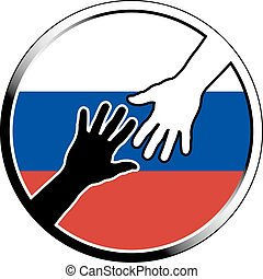 help in russia.eps - help in russia. vector illustration