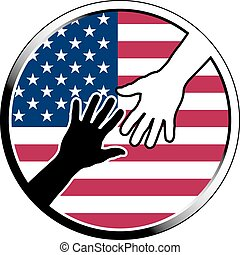 help in USA.eps - help in USA. vector illustration