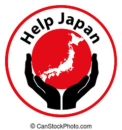 Help Japan - Icon symbol for help the japan emergency