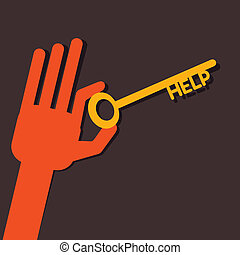 Help key in hand