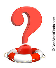 Help - Lifebuoy and red question mark