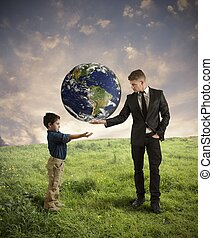Help new generation - Concept of help new generation from...