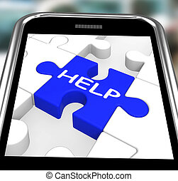 Help On Smartphone Showing Assistance Messages