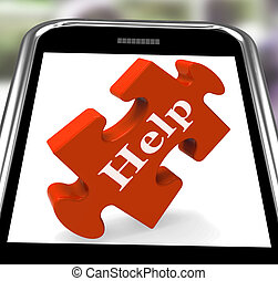 Help On Smartphone Shows Counseling And Helping
