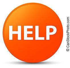 Help orange round button