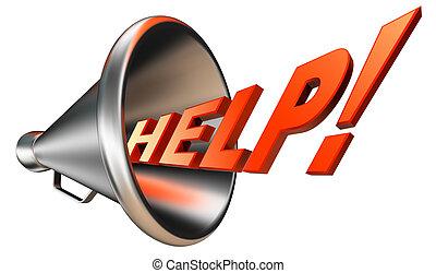help orange word in bullhorn - help orange word in megaphone...
