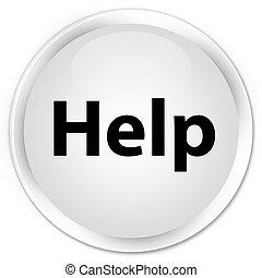 Help premium white round button