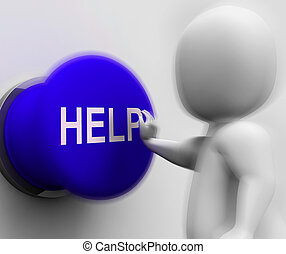 Help Pressed Shows Support Assistance And Aid - Help Pressed...