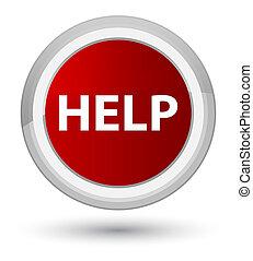 Help prime red round button