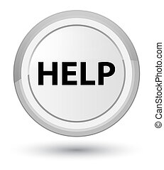 Help prime white round button