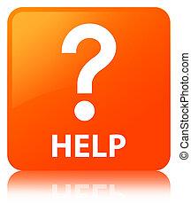 Help (question icon) orange square button