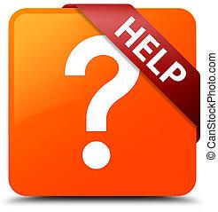 Help (question icon) orange square button red ribbon in corner