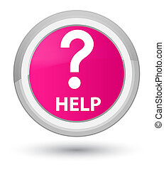 Help (question icon) prime pink round button