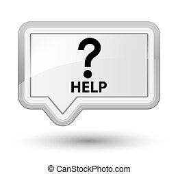 Help (question icon) prime white banner button
