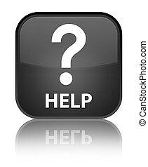 Help (question icon) special black square button