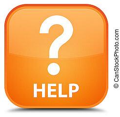 Help (question icon) special orange square button