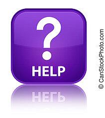 Help (question icon) special purple square button
