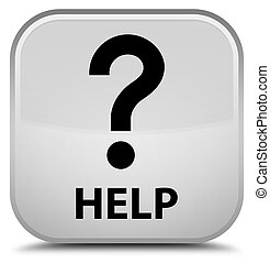 Help (question icon) special white square button