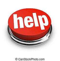 help-, röd knapp