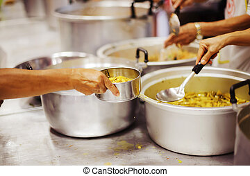 Help serving free food to the poor Needy