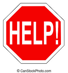 help sign - Help on an octagonal traffic stop sign...