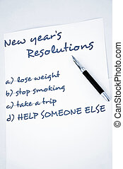 New year resolution help someone else