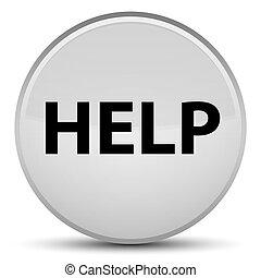 Help special white round button