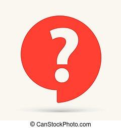 Help speech bubble symbol. FAQ. Question mark icon.