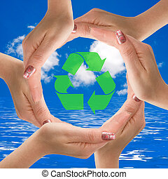 help the earth by Recycling