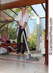 Help the elderly clean