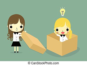 help to think outside box woman version