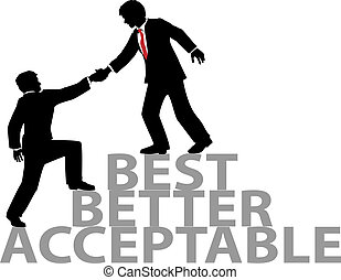 Help up join best business people - Business person gets...