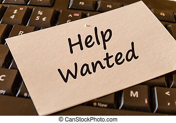 Help wanted text note