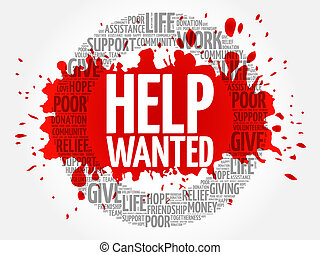 Help Wanted word cloud collage