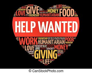 Help Wanted word cloud