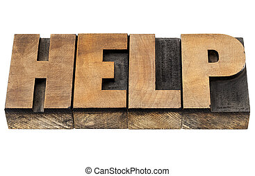 help word in wood type
