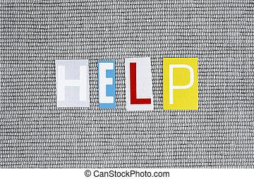 help word on grey background