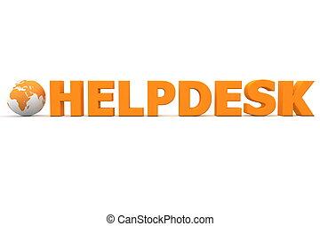 helpdesk, 世界, 橙