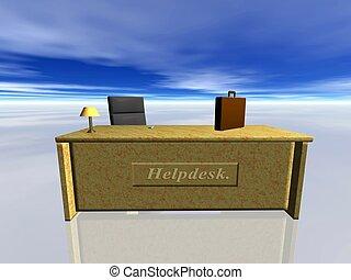 Helpdesk. - Helpdesk, a surreal interpretation. Bryce...