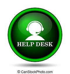 Helpdesk icon. Internet button on white background.