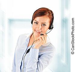 helpdesk., nazywać środek, operator., support., klient