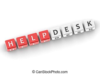 Helpdesk - Rendered artwork with white background